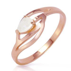 14K Rose Gold Ring w/ Natural Opal